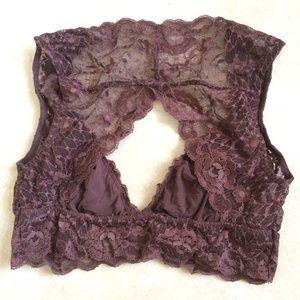 Free People Intimates & Sleepwear - Free People maroon lace bralette